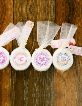 Mini Wedding Soap Favors - Rustic Guest Soaps - Choose your scent - Customize your wrap design -hotel soap size